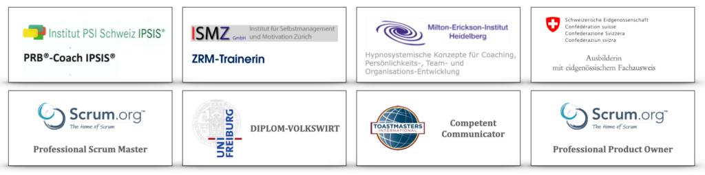 Zertifizierungen von Regine Stopka
